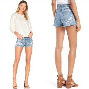 """Rag & Bone """"Justine"""" High Waist Denim Shorts"""